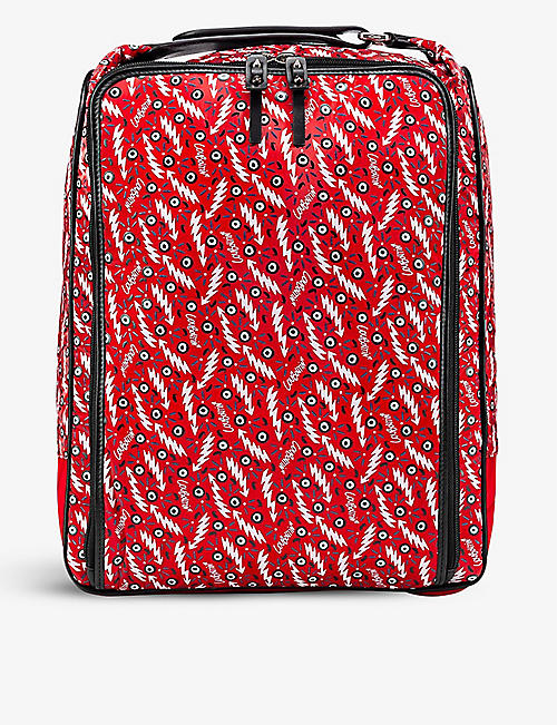 CHRISTIAN LOUBOUTIN: Graphic-print woven backpack