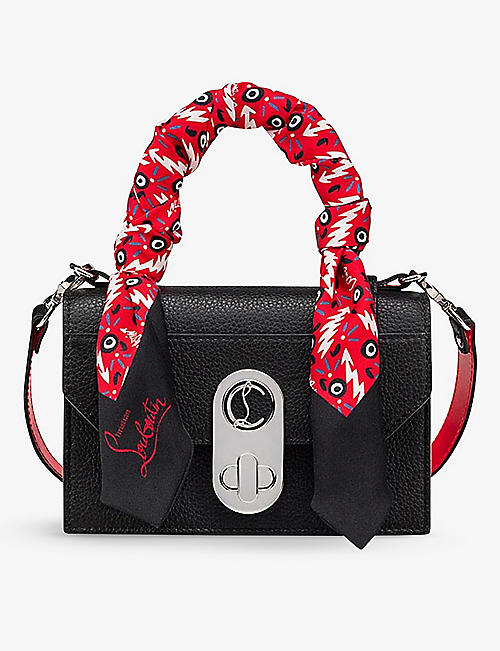 CHRISTIAN LOUBOUTIN: Elisa leather top-handle bag