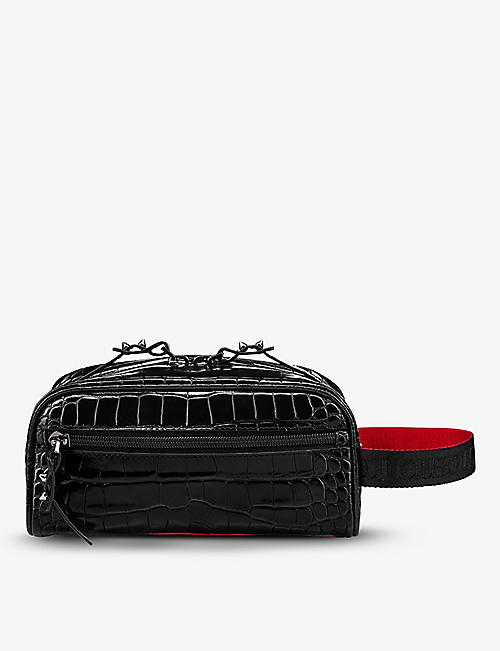 CHRISTIAN LOUBOUTIN: Blaster leather washbag