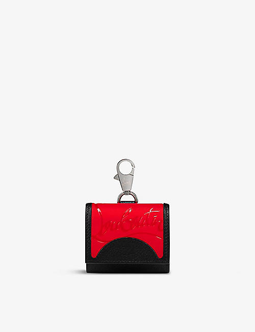 CHRISTIAN LOUBOUTIN: Grilou logo-print leather AirPods case