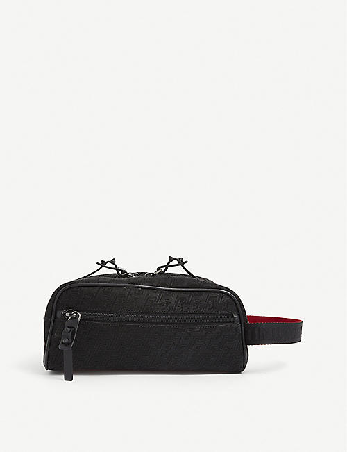 CHRISTIAN LOUBOUTIN: Blaster logo-print cross-body bag