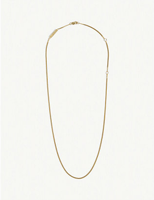 Nude Alphabet Tiny N 24ct Yellow Gold-plated Pendant