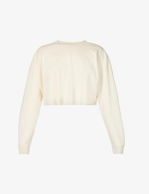 WEWOREWHAT: Cropped cotton-jersey sweatshirt