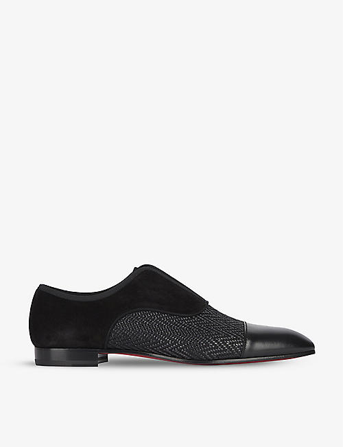 CHRISTIAN LOUBOUTIN: Alpha Male Flat Calf P Tr Summer Vv Gg