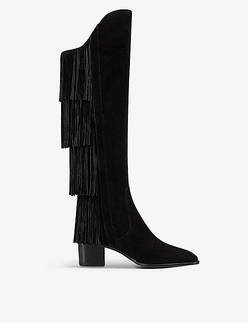 CHRISTIAN LOUBOUTIN: Boot lion 55 crosta black