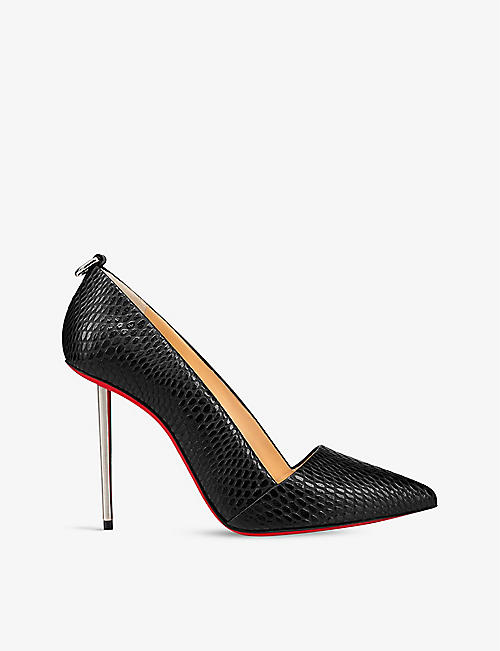 CHRISTIAN LOUBOUTIN: Epic et pointe 100 calf jurrasic galva