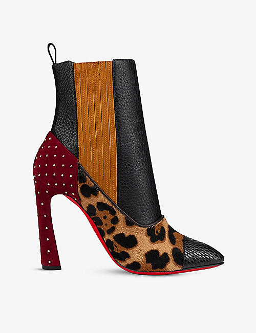 CHRISTIAN LOUBOUTIN: Me in the 90s plume 100 calf jurassic po