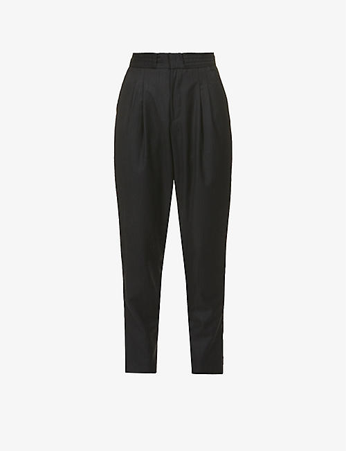 ESTER KUBISZ: Zazou tapered high-rise wool trousers