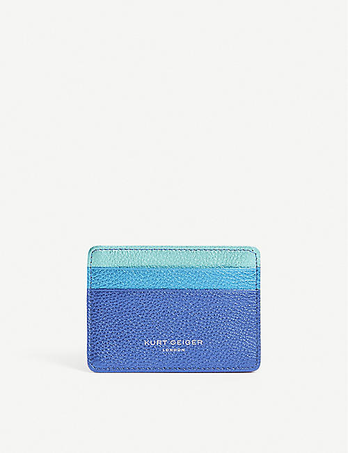 KURT GEIGER LONDON: Rainbow leather card holder