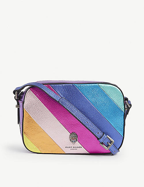 KURT GEIGER LONDON: Rainbow leather shoulder bag