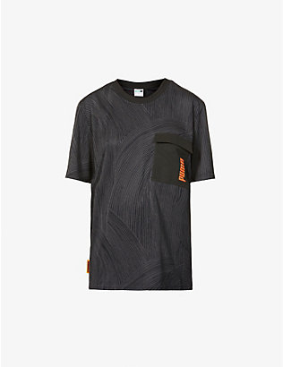 PUMA: Puma x Central Saint Martins jacquard stretch-woven T-shirt