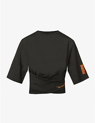 PUMA: Puma x Central Saint Martins belted stretch-jersey T-shirt