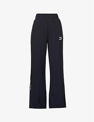 PUMA: Puma x Central Saint Martins embroidered high-rise cotton-blend jogging bottoms