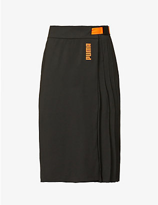 PUMA: Puma x Central Saint Martins stretch-jersey midi skirt