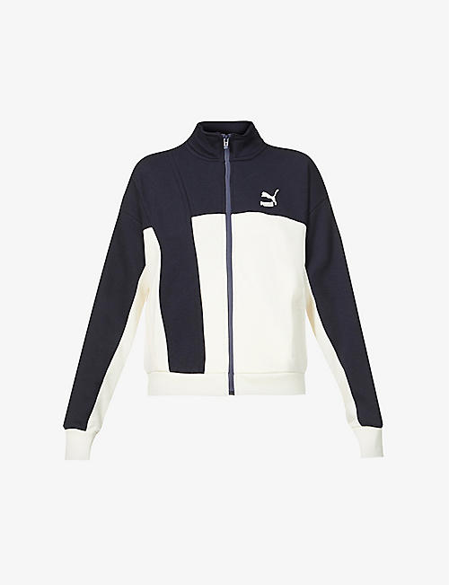 PUMA: Puma x Central Saint Martins logo-embroidered cotton-blend jacket