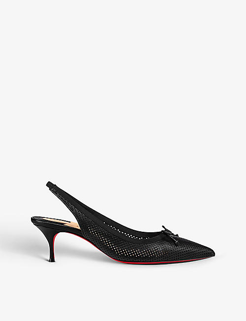 CHRISTIAN LOUBOUTIN: Hall Sling Pump 55 Nappa Perf GG Version