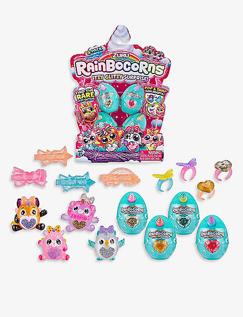 RAINBOCORNS: Itzy Glitzy Surprise Collectible Eggs four-piece toy assortment