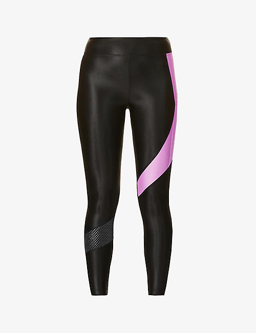 KORAL: Pista Infinity high-rise sports-jersey leggings