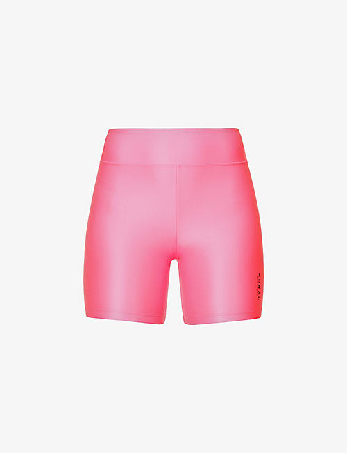 KORAL: Slalom Infinity high-rise stretch-jersey shorts