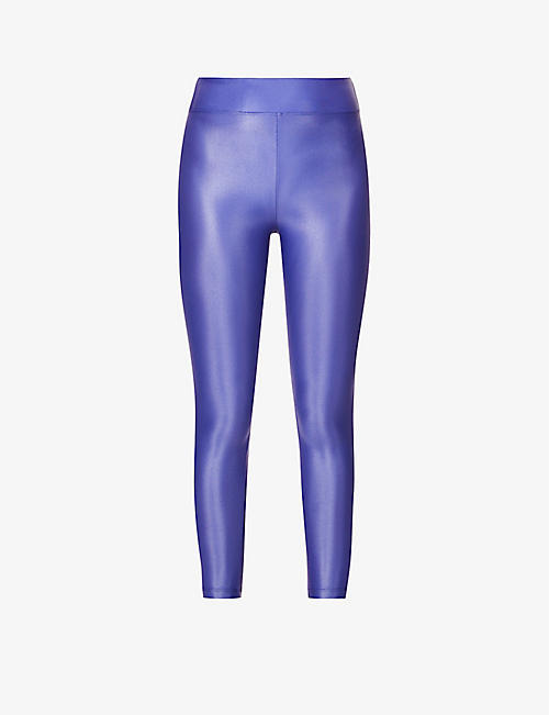 KORAL: Lustrous high-rise stretch-jersey leggings