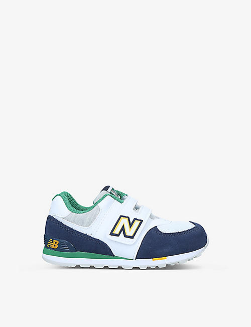 NEW BALANCE: 574 V1 NLB IV low-top suede and mesh trainers 2-5 years