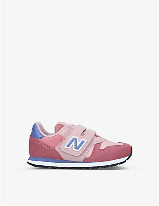 NEW BALANCE: 373 V1 KPP suede trainers 6-10 years