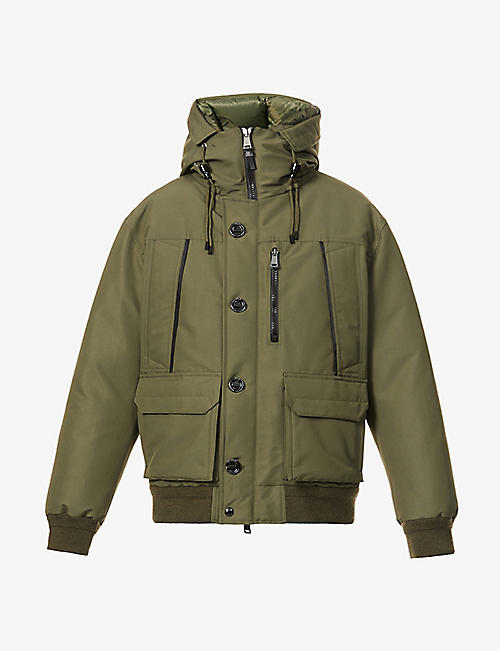 RALPH LAUREN RLX: Hooded shell-down bomber jacket