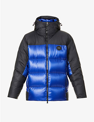 RALPH LAUREN RLX: Two-tone padded shell-down jacket