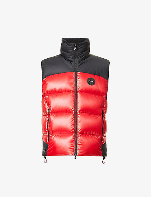 RALPH LAUREN RLX: Funnel-neck quilted shell-down gilet