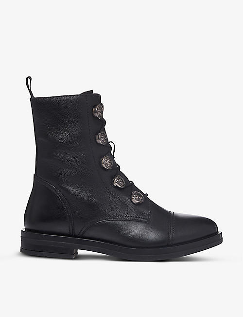 BERTIE: Poster leather ankle boots