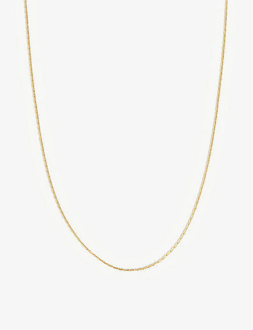 OTIUMBERG: Barley recycled 9ct yellow gold-plated vermeil sterling-silver chain necklace