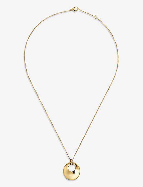 OTIUMBERG: Unbreakable yellow gold-plated vermeil on sterling-silver necklace