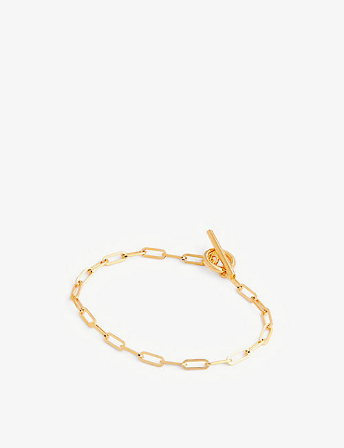OTIUMBERG: Love Link 9ct yellow gold-plated vermeil sterling-silver chain bracelet