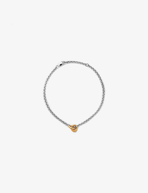 OTIUMBERG: Link Up 14ct yellow gold-plated vermeil and sterling silver chain bracelet