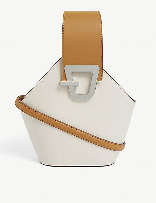 DANSE LENTE: Johnny mini leather bucket bag