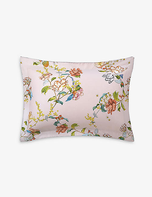 YVES DELORME: Bagatelle organic cotton-sateen Oxford pillowcase 50cm x 75cm