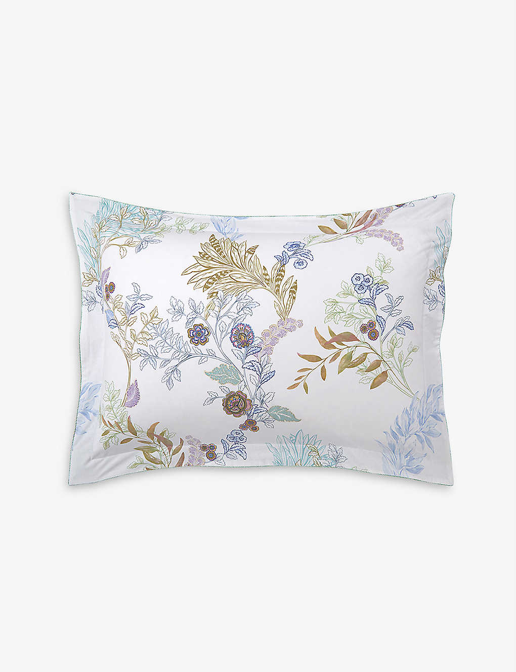 YVES DELORME: Caliopée cotton-percale Oxford pillowcase 50cm x 75cm