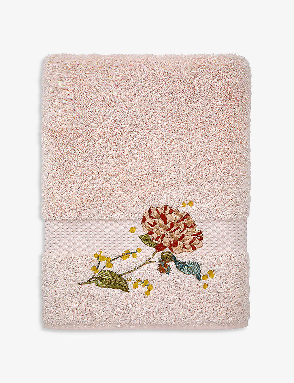 YVES DELORME: Bagatelle cotton and modal-blend hand towel 55cm x 100cm