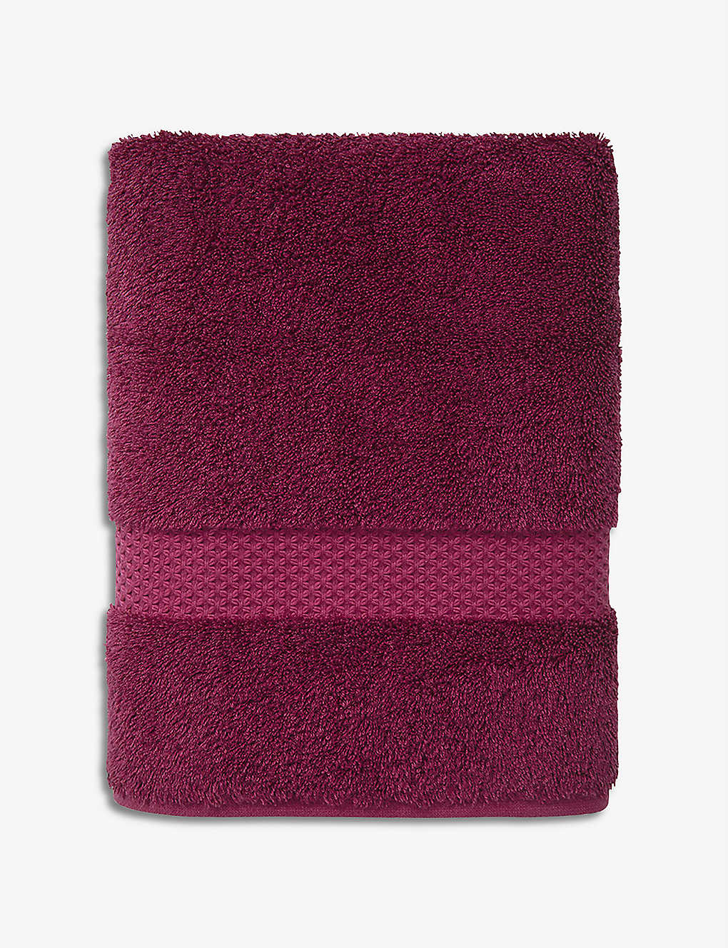 YVES DELORME: Etoile cotton and modal-blend guest towel 45cm x 70cm