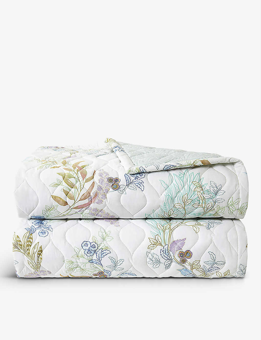 YVES DELORME: Caliopée floral-print organic cotton-sateen bed cover