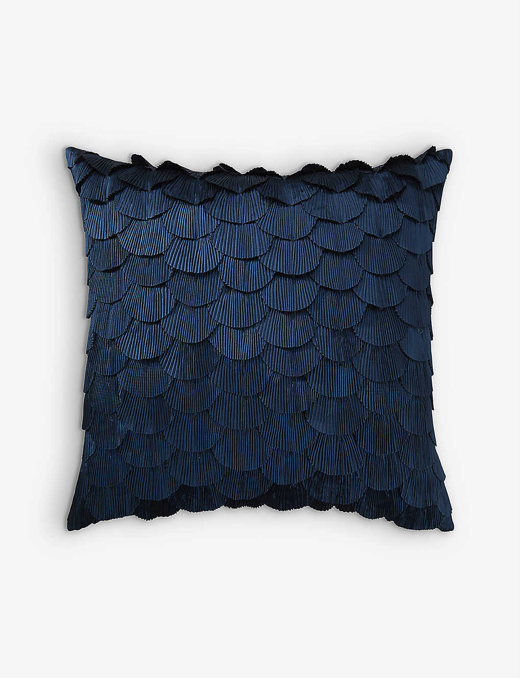 YVES DELORME: Ombelle fringed cotton cushion cover