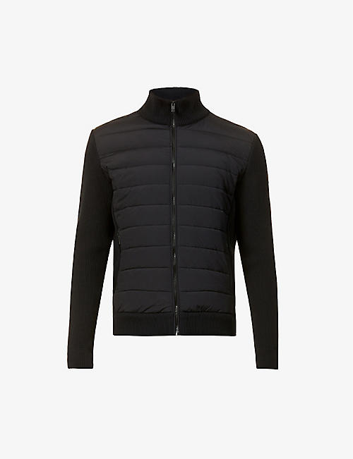 FUSALP: Lissandre quilted knitted and shell jacket
