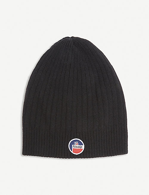 FUSALP: Logo-patch merino wool and cashmere beanie