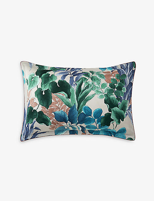 OLIVER DESFORGES: Grande Serre cotton pillow case 50cm x 75cm