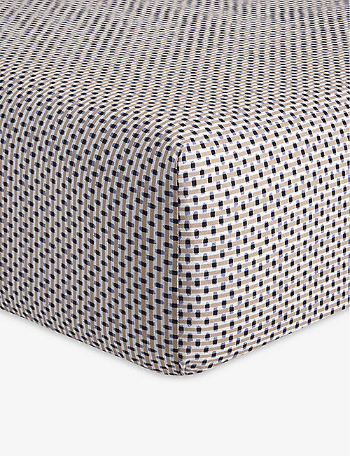 OLIVER DESFORGES: Tournelles single cotton fitted sheet 90cm x 200cm