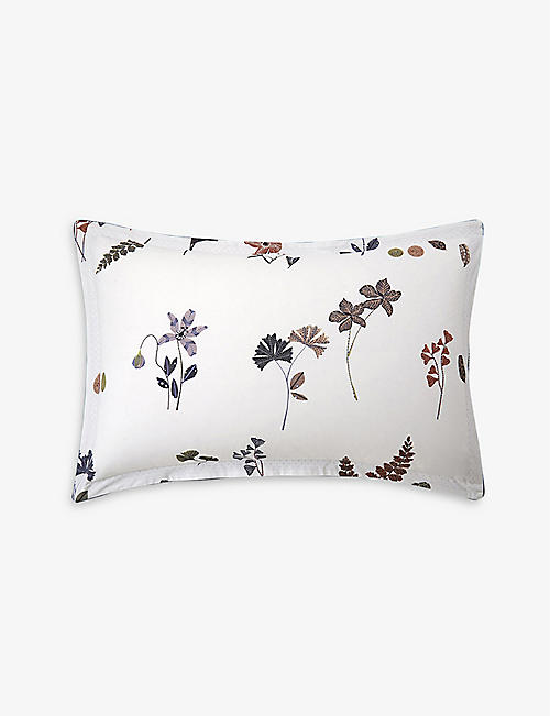 OLIVER DESFORGES: Tournelles cotton pillowcase 50cm x 75cm