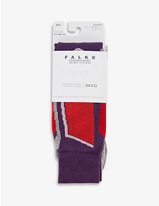 FALKE ERGONOMIC SPORT SYSTEM: SK2 stretch-woven ski socks
