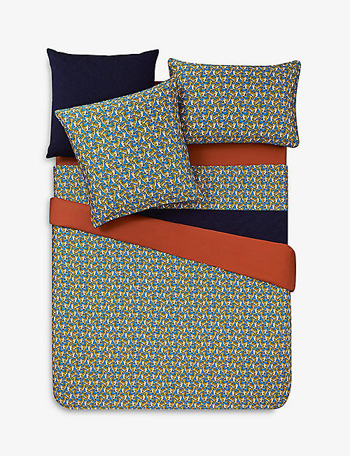 KENZO: K Safari cotton-sateen duvet cover