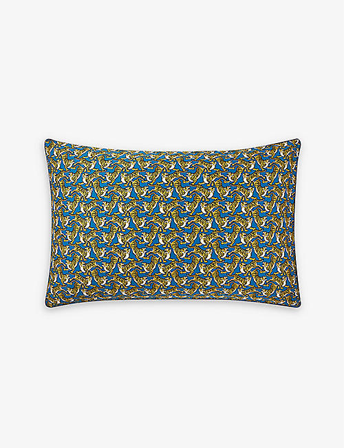 KENZO: K Safari cotton-sateen pillowcase 50cm x 75cm