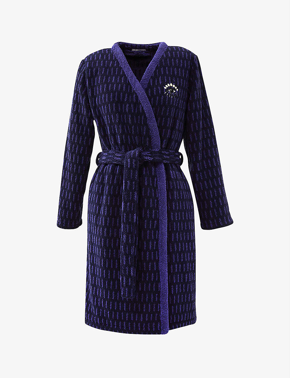 Kenzo K Eclipse Organic Cotton Jacquard Bath Robe Selfridges Com